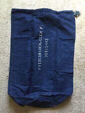 Vintage 40's WW II Denim Laundry Bag