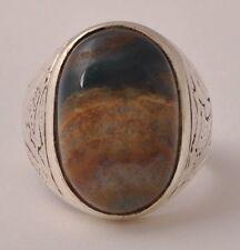 Yemen Yemeni Silver agate Ring/aqeeq aqiq Men Ring-Middle Eastern