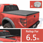 Tonneau Cover Lock Roll Up Soft 6.5FT Short Bed Fit For Dodge Ram 1500 2500 3500
