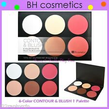 NEW BH Cosmetics 6-Color CONTOUR & BLUSH 1 Highlighter Palette FREE SHIPPING One