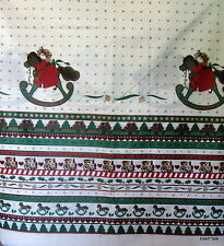Vintage Daisy Kingdom 70s 80s Christmas cotton border print fabric rocking horse