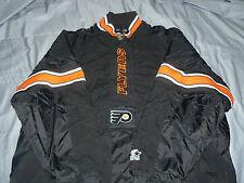 NHL Official Licenced Starter Pull Over Coat Jacket Flyer Black Orange Trim XXL