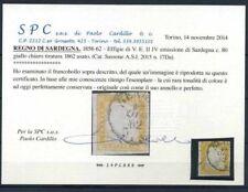 Sardegna 1855 Sass. 17Da Usato 100% Cardillo Certificato