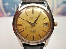 RELOJ VINTAGE NIVADA AQUADATIC DATE AUTOMATIC MEN'S CABALLERO WATCH