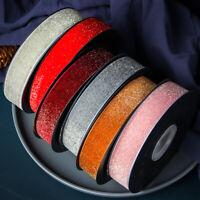 "Vintage Sequins Velvet Ribbon Trims Velour Webbing for Floral Decor 1""X10 Yd Sew"
