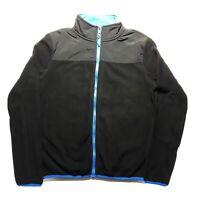 Aeropostale Womens Juniors Fleece Nylon Full Zip Black Blue Jacket Size Small