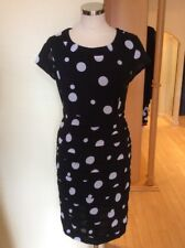 Gerry Weber Dress Size 12 Black and White Spot Pleats Now