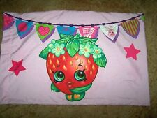 SHOPKINS Pillowcase _Standard size_ PINK Cupcake_polyester Kids Bedding_EUC