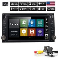 "6.2"" Double 2 Din In Dash Touch Car Stereo DVD Player Radio GPS SAT NAV + Camera"