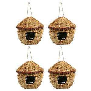 4pcs Parakeet Nest Box Budgie Nesting Houses Lovebirds Breeding Hut Birdhouse
