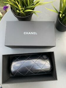 CHANEL Leather Hard Glasses Case with outher box