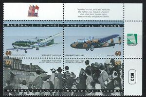 Marshall Islands Sc 656 Block of 4 Berlin Airlift, 50th Anniv Douglas C-54/R4D-5