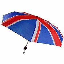 Mini Umbrella Union Jack Compact Folding Brolly Handbag Travel Festival