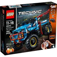 NEW SEALED LEGO TECHNIC 42070 ALL TERRAIN TOW TRUCK REMOTE CONTROL CRANE DAMAGE