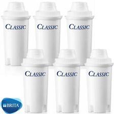 6 x Brita Classic Water Filter Jug Cartridges Replacement Refill 4 Week Original