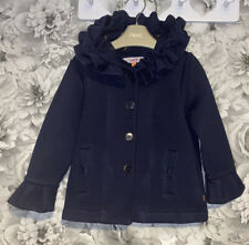 Girls Age 4-5 Years - Ted Baker Navy Blue Soft Hooded Coat