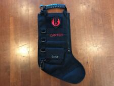"New Personalized ""CARTER"" Star Wars CHRISTMAS STOCKING Black Jedi Order Patch"