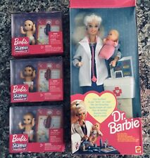 Dr. Barbie Doll Plus 3 extra Babies * New In Boxes