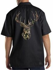 BREAK-UP CAMO DEER SKULL Mechanics Dickies Work Shirt Licensed Mossy Oak Hunting