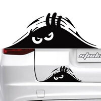 1*Black Peeking Monster Funny Cute Sticker Waterproof Vinyl Decal For Car Window