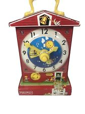 Fisher Price Music Box Teaching Clock Learning Time Little Red School Mattel Toy