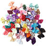 10pcs Satin Ribbon Bows Applique Craft Embellishments Wedding Scrapbooking Card