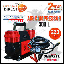 NEW X-BULL 12v Air Compressor 4x4 Tyre Deflator Portable 300L/min Tire Inflator