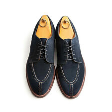 Handmade Men Navy blue Suede derby shoes, Mens fashion designer formal shoe