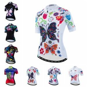 Women Cycling Jersey Bike Butterfly Short Sleeve Bicycle T-Shirt Clothing Tops