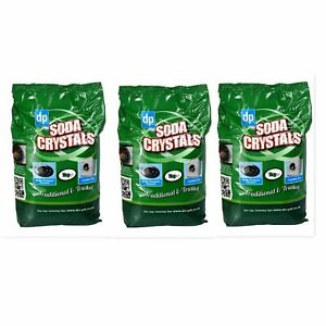 3x Dri-Pak Soda Crystals 1Kg....For Laundry, Sinks, Drains and Much More