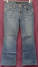 "LEVIS 518 SUPERLOW sz ""11 S/C"" BLUE JEANS measures 30"" x 29"" (#D17)"