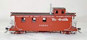Sn3 Berlyn Locomotive Works D&RGW Long Caboose #04990, Factory painted