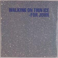 YOKO ONO: Walking On Thin Ice for John Lennon USA Geffen ORIG 45 w/ PS Beatles