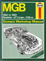 MG MGB 1962-1980 Haynes Owners Workshop Manual Roadster GT Coupe 1798cc