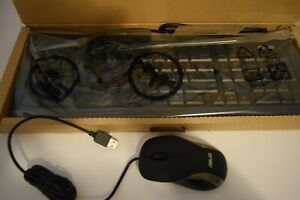Black ASUS wired mouse and keyboard bundle