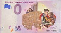 BILLET 0  EURO BALCONNE DI ROMEO E GIULETT COULEUR  ITALIE 2019 NUMERO DIVERS