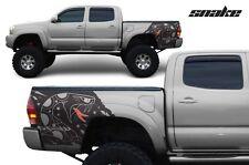 Custom Vinyl Rear Decal Snake Wrap Kit for Toyota Tacoma Parts 05-15 Matte Black