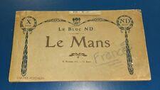 1900s Le Bloc ND Le Mans France Cartes Postales Postcard Souvenir Book R Barbier