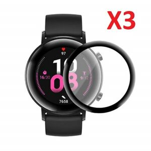 3 X Full Cover Glass Screen Protector For Huawei Watch GT 2 42MM