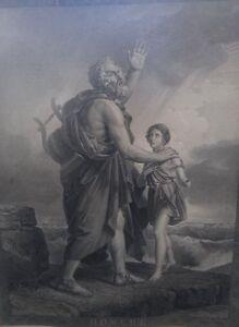 Jean-Bapt. Raphaël MASSARD (1775-1843) - Homère (1816), grosser Kupf (223/13035)