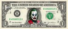 JOKER on a REAL Dollar Bill Cash Money Collectible Memorabilia Celebrity Novelty