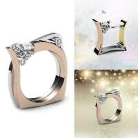 Schöne Frauen Männer Silber Gold Weiß Topaz Smaragd Hoch Ring Paar Band D6Q U1T3