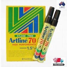 12 x Artline 70 BLACK 1.5mm Bullet Nib