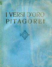 Evola = I VERSI D'ORO PITAGOREI