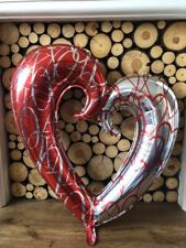 Folien Ballon Küsse Herzmuster Valentinstag Muttertag 86.4cm 86cm