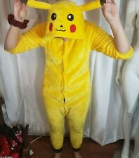 Adult Pokemon Pikachu Pajamas Cosplay Costume Sleepwear