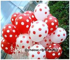 "10""-100 Plain,Polka Dot Mix Balloons For Anniversary wedding Celebrations Partys"