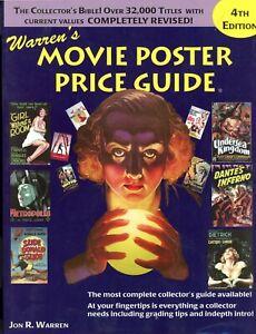 WARREN'S MOVIE POSTER PRICE GUIDE, by Jon R. Warren, Soft Cover