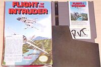 Flight of the Intruder Nintendo NES simulator Original game cartridge with box