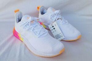 New Women's Adidas Kaptir Super Running Shoes FZ2790 White/Brite Orange